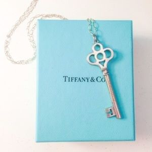 Retired Tiffany & Co. Crown Key Pendant